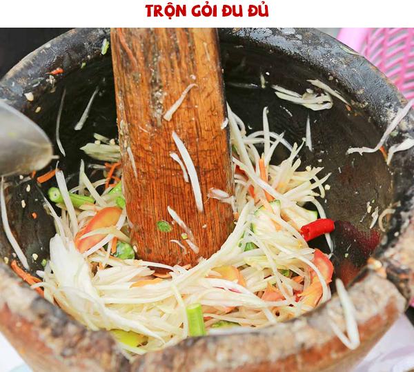 Cách làm gỏi đu đủ Thái Lan