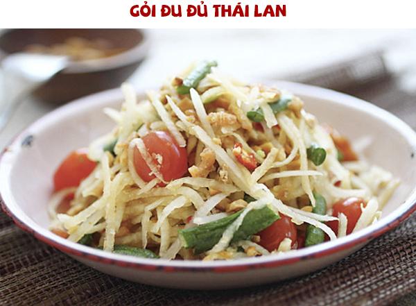 Cách làm gỏi đu đủ Thái Lan kiểu Việt