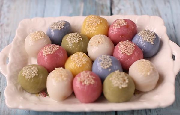 Cách làm bánh trôi nhiều màu