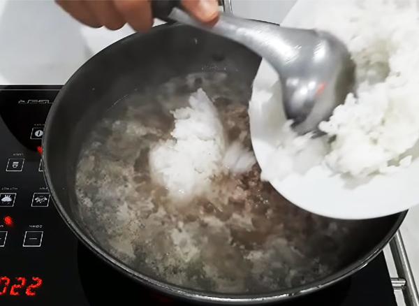 Cách nấu cháo thịt bò bằm