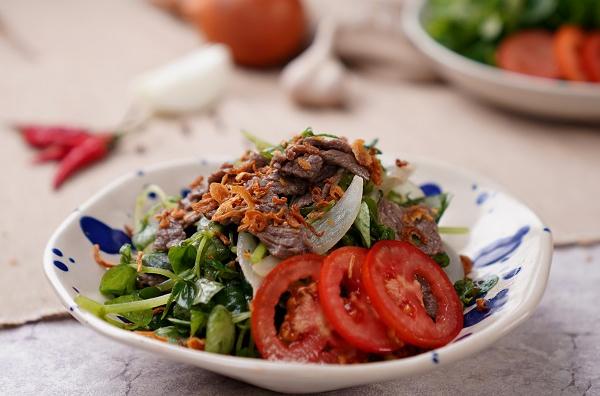 Cách làm rau càng cua trộn thịt bò