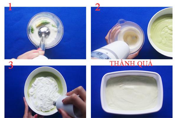 Cách làm kem bơ