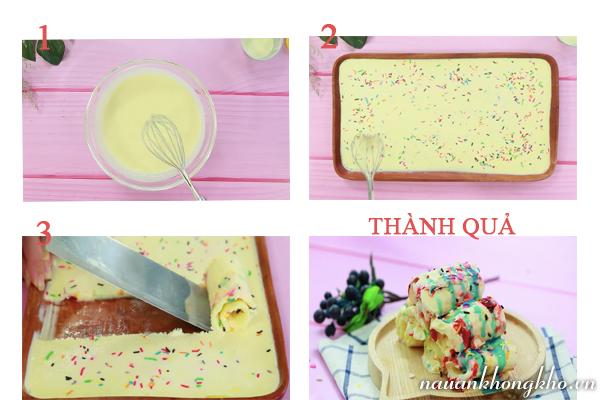 Cách làm kem cuộn Thái Lan