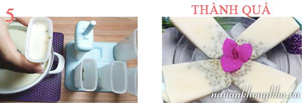 Cách làm kem đậu xanh sữa dừa