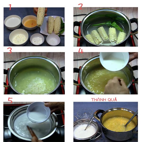 Cách nấu chè bắp nếp nước cốt dừa