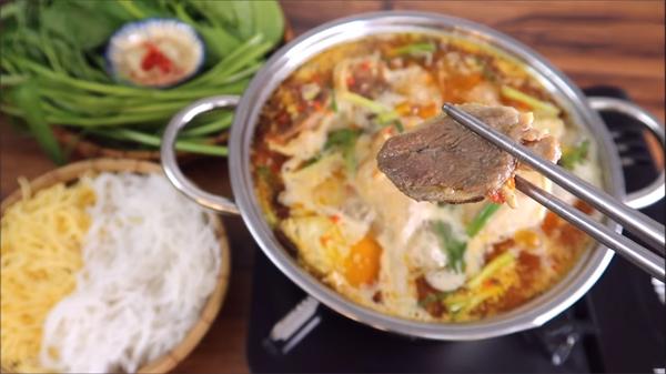 Cách nấu lẩu vịt nấu chao