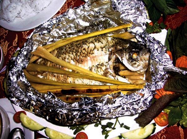 Cách làm cá rô phi nướng giấy bạc