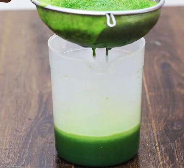 Cách làm nước ép cải bó xôi, chanh, khóm