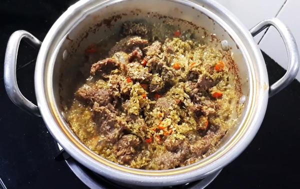 Cách nấu bò kho sả ớt