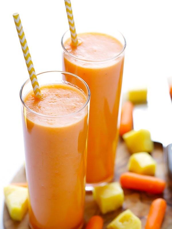 Cách làm nước ép cà rốt với dứa