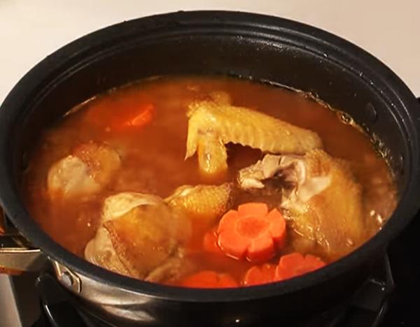 Cách làm gà nấu đậu ngự