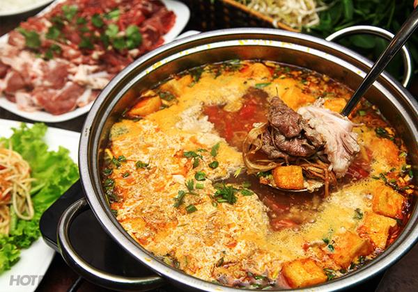 Cách nấu lẩu riêu cua bắp bò sườn sụn