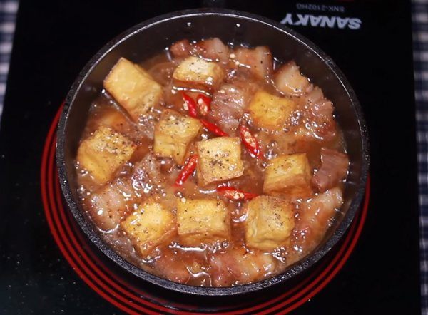 Cách làm thịt kho đậu hũ