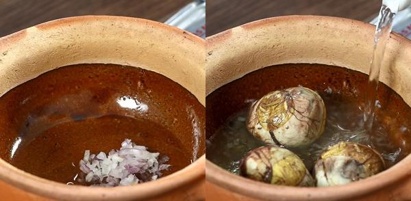 Cách nấu trứng vịt lộn um bầu