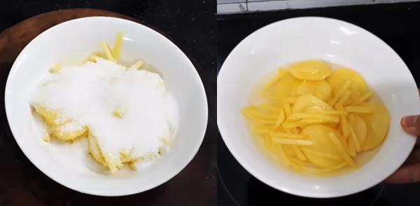 Cách làm mứt khoai tây không cần nước vôi trong