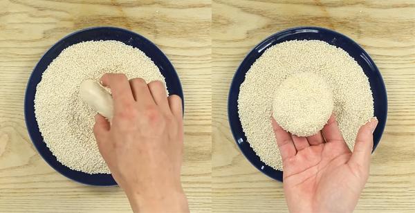 Cách làm bánh tiêu nhân thịt