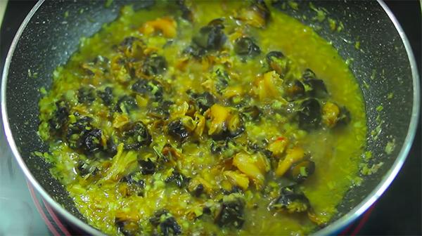 Cách làm ốc bươu xào sả ớt