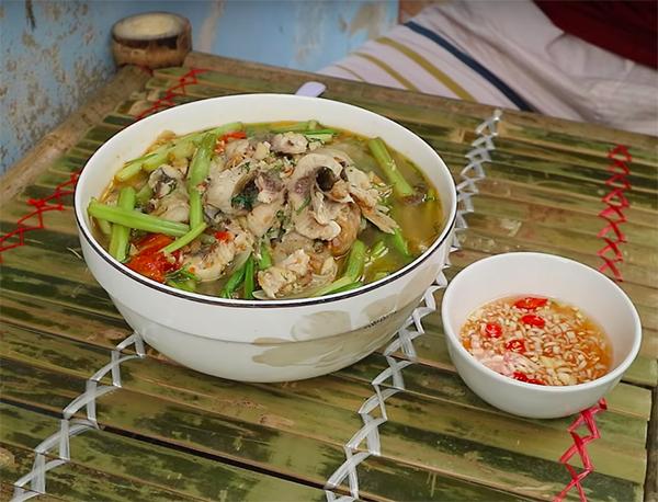 Cách nấu canh rau cần cá chép