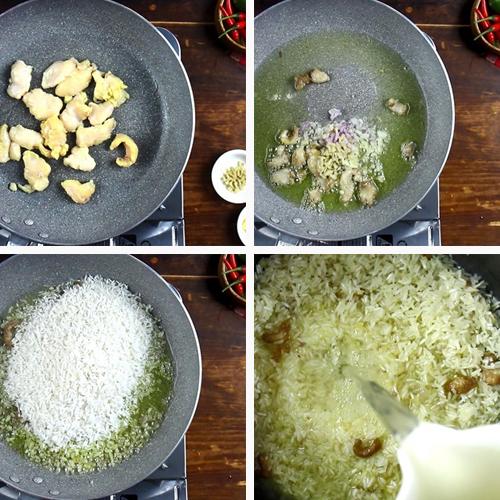 Cách nấu cơm gà hải nam đơn giản