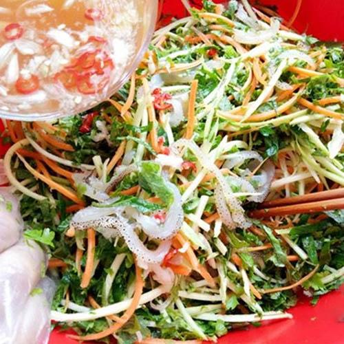 Cách làm nộm sứa hoa chuối