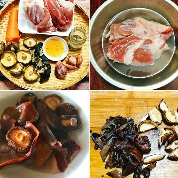 nguyên liệu làm thịt nấu đông