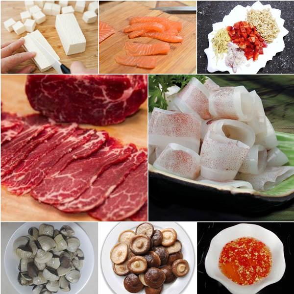 nguyên liệu nấu hải sản thập cẩm