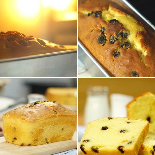 Cách làm bánh bông lan nho khô tại nhà