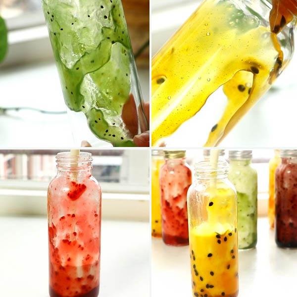 Cách làm sữa chua uống trái cây