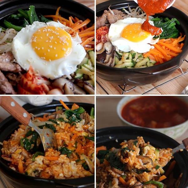 Cách làm cơm trộn Hàn Quốc bibimbap