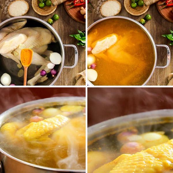 Cách nấu cơm gà Hội An