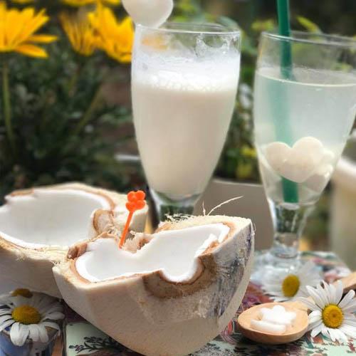 cách làm sinh tố dừa với sữa chua