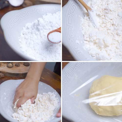 cách làm vỏ bánh gối nhân thịt