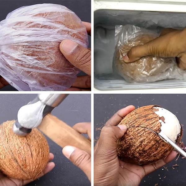 cách làm bánh flan trái dừa