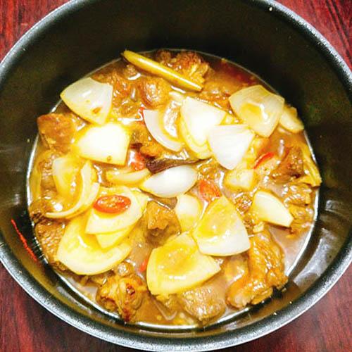 cách nấu bò kho với nước cốt dừa tươi