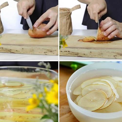 cách làm snack khoai tây