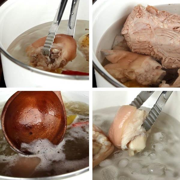 Cách nấu bún bò giò heo