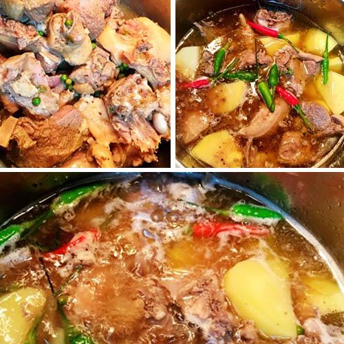 Cách làm vịt nấu tiêu xanh