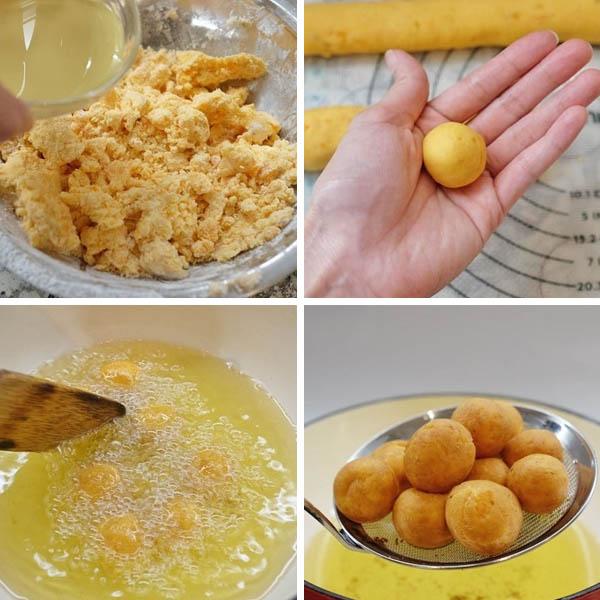 Cách làm bánh khoai lang chiên