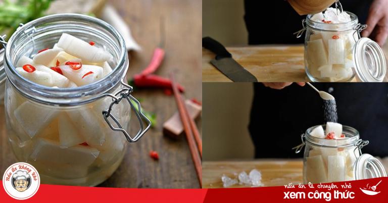 Cách làm cải muối chua ngọt giòn ngon chống ngán cho bữa cơm gia đình thêm hương vị