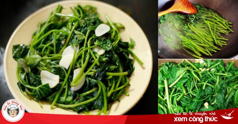Sau Tết cứ làm món rau lang xào tỏi giòn ngon, xanh mướt này đảm bảo ai cũng mê tít