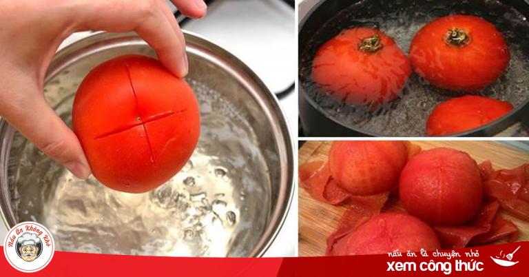 Luộc 1 quả cà chua rồi nghiền nhuyễn đắp lên mặt, da trắng bóc, hết mụn hiệu quả bất ngờ