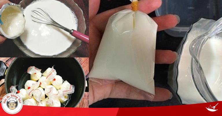 Cách làm sữa chua túi ăn mỗi ngày, giảm cân nhanh chống, da đẹp trắng hồng