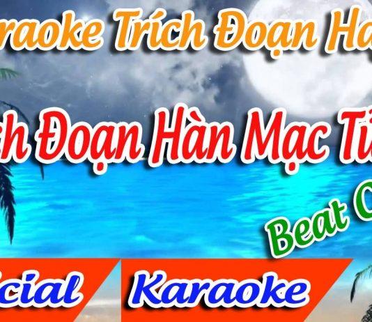karaoke trích đoạn hàn mạc tử