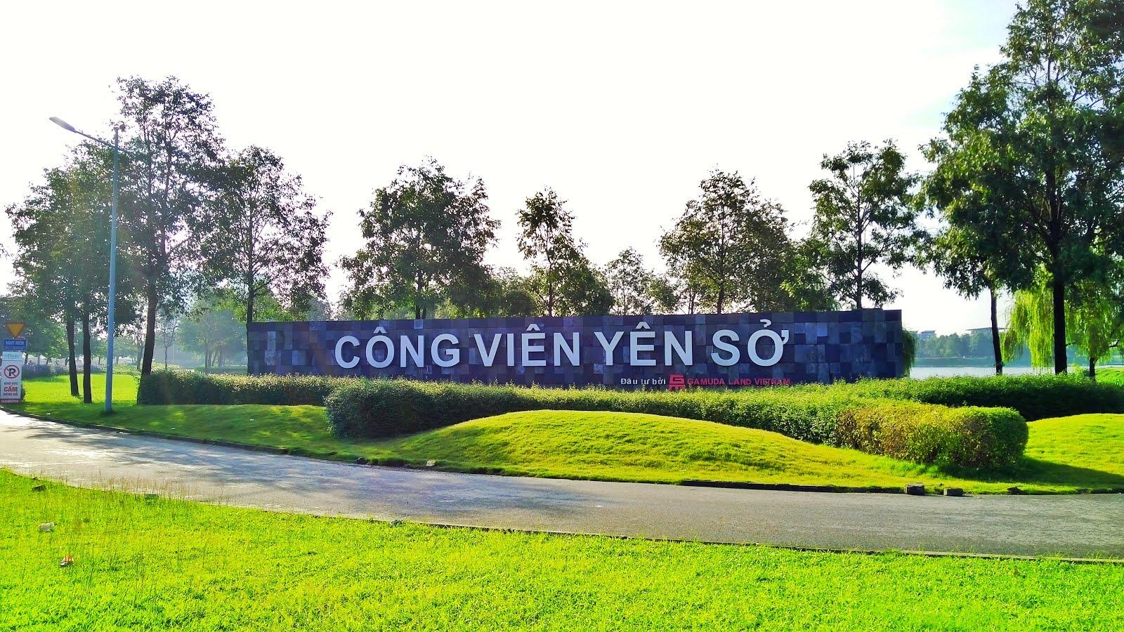 Công viên Yên Sở – Điểm đến lý tưởng giữa thủ đô Hà Nội